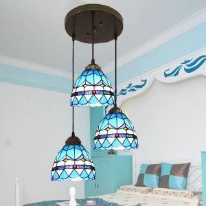 ティファニーライト ペンダントライト ステンドグラスランプ 照明器具 食卓照明 3灯