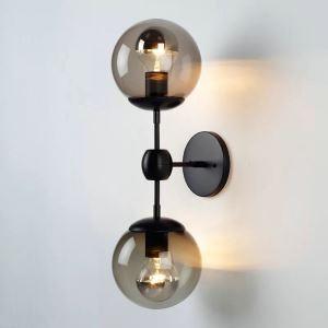 壁掛けライト ウォールランプ 照明器具 玄関照明 ブラケット レトロ 魔豆型 2灯