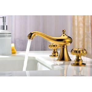 バス水栓 洗面蛇口 浴室水栓 水道蛇口 2ハンドル混合栓 TI-PVD THZ113