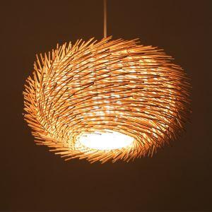 ペンダントライト 照明器具 リビング照明 店舗照明 天井照明 寝室 食卓 ラタン製 和風 3灯