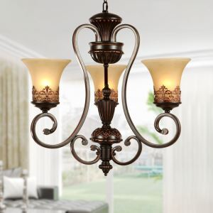 シャンデリア 北欧風照明 天井照明 レトロな照明器具 エレガントな照明 3灯