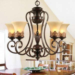 シャンデリア 北欧風照明 天井照明 レトロな照明器具 エレガントな照明 5灯