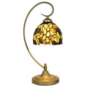 テーブルランプ ステンドグラスランプ ティファニーライト 卓上照明 寝室スタンド ブドウ 1灯 8in TL247