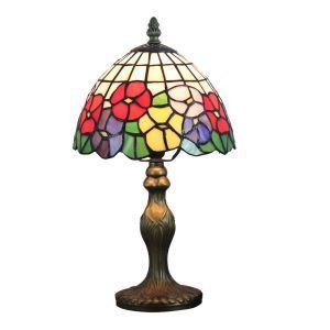 テーブルランプ ステンドグラスランプ ティファニーライト 卓上照明 寝室スタンド 1灯 8in TL320 A/B