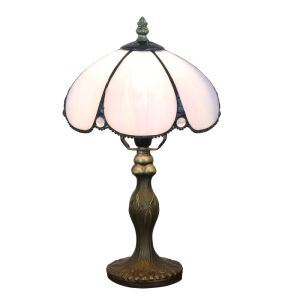 テーブルランプ ステンドグラスランプ ティファニーライト 卓上照明 寝室スタンド 1灯 8in TL332