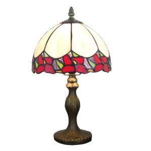 テーブルランプ ティファニーライト ステンドグラスランプ 卓上照明 スタンドライト 花柄 1灯 D20cm LTTL334