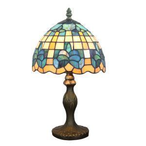 テーブルランプ ステンドグラスランプ ティファニーライト 卓上照明 寝室スタンド 1灯 8in TL342