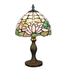 テーブルランプ ステンドグラスランプ ティファニーライト 卓上照明 寝室スタンド 1灯 8in TL349