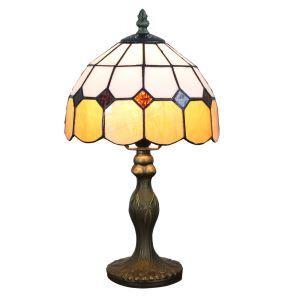 テーブルランプ ステンドグラスランプ ティファニーライト 卓上照明 寝室スタンド 1灯 8in TL350