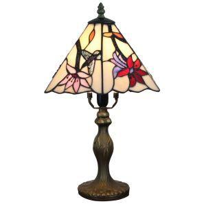 テーブルランプ ステンドグラスランプ ティファニーライト 卓上照明 寝室スタンド ハチドリ 1灯 8in TL352