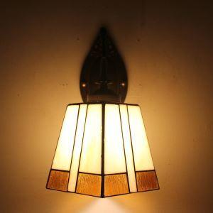 ティファニーライト 壁掛け照明 ステンドグラスランプ ブラケット 玄関照明 幾何柄 1灯 LTWL005