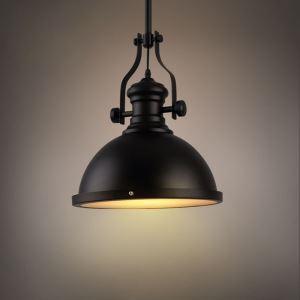 ペンダントライト アメリカスタイル照明 天井照明 レトロな照明器具 黒色 1灯