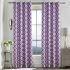 遮光カーテン オーダーカーテン 幾何柄 紫色 現代風 3級遮光カーテン(1枚)