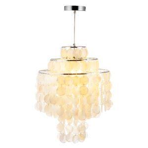 ペンダントライト 照明器具 店舗照明 玄関照明 シェル製 おしゃれ 1灯 D40cm