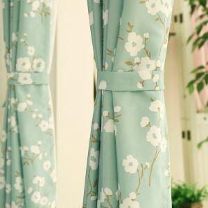 遮光カーテン オーダーカーテン 捺染 花柄 北欧風 3級遮光カーテン(1枚)