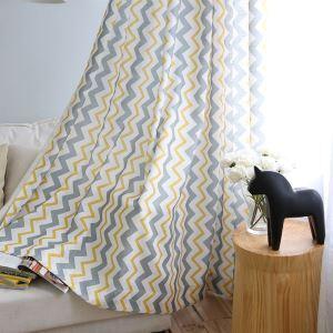 遮光カーテン オーダーカーテン 捺染 波柄 北欧風 3級遮光カーテン 02(1枚)