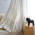 遮光カーテン オーダーカーテン 捺染 波柄 北欧風 2色 3級遮光カーテン(1枚)