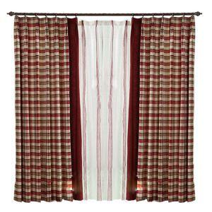遮光カーテン オーダーカーテン 先染め チェック柄 北欧風 3級遮光カーテン(1枚)
