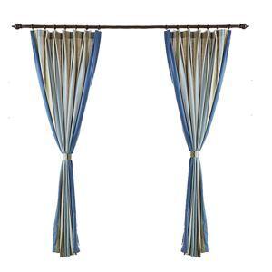 遮光カーテン オーダーカーテン 先染め 縞柄 北欧風 3級遮光カーテン(1枚)