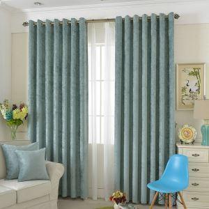 遮光カーテン オーダーカーテン 無地柄 純色 1級遮光カーテン 青緑色03(1枚)