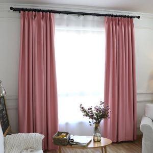 遮光カーテン オーダーカーテン ブラックシルク付 純色 3色 現代風 1級遮光カーテン(1枚)