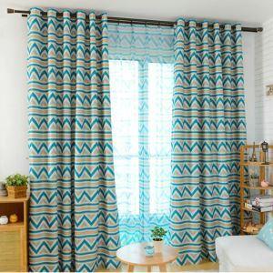遮光カーテン オーダーカーテン 幾何柄 現代風 1級遮光カーテン(1枚)