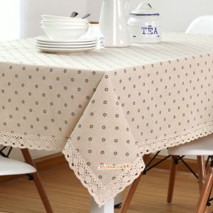 テーブルクロス テーブルカバー リネン 北欧 おしゃれ ダイニング 食卓 デージー 90*150cm