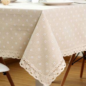 テーブルクロス テーブルカバー リネン 北欧 おしゃれ ダイニング 食卓 桜草 100*160cm