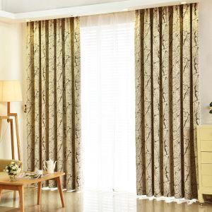遮光カーテン オーダーカーテン 植物柄 田舎風 1級遮光カーテン(1枚)