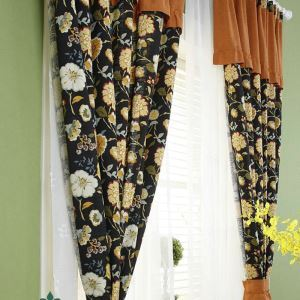 遮光カーテン オーダーカーテン ターシャ・テューダー 3級遮光カーテン(1枚)