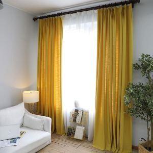 遮光カーテン オーダーカーテン 捺染 無地柄 現代風 5色 3級遮光カーテン(1枚)