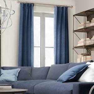 遮光カーテン オーダーカーテン 濃紺色 無地柄 現代風 1級遮光カーテン(1枚)