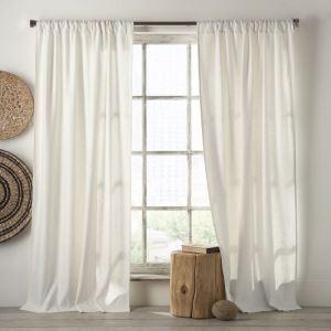 遮光カーテン オーダーカーテン 無地柄 綿麻 和風 5色 3級遮光カーテン(1枚)