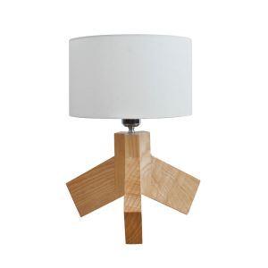 テーブルランプ 卓上照明 テーブルライト 木製スタンド 布製シェード 北欧風 1灯 LTMS61362