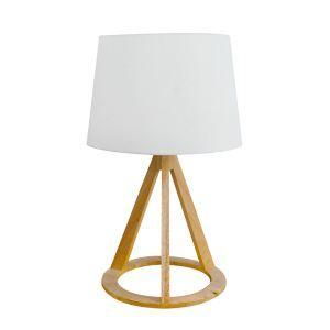 テーブルランプ 卓上照明 テーブルライト 木製スタンド 布製シェード 北欧風 1灯 LTMS61363
