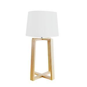 テーブルランプ 卓上照明 テーブルライト 木製スタンド 布製シェード 北欧風 1灯 LTMS61364