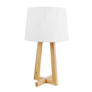 テーブルランプ 卓上照明 テーブルライト 木製スタンド 布製シェード 北欧風 1灯 LTMS61367