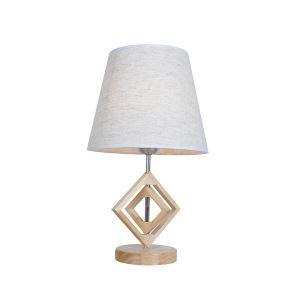 テーブルランプ 卓上照明 テーブルライト 木製スタンド 布製シェード 北欧風 1灯 LTMS61369