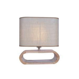 テーブルランプ 卓上照明 テーブルライト 木製スタンド 布製シェード 北欧風 1灯 LTMS61370