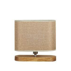 テーブルランプ 卓上照明 テーブルライト 木製スタンド 布製シェード 北欧風 1灯 LTMS61371