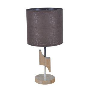 テーブルランプ 卓上照明 テーブルライト 木製スタンド 布製シェード 北欧風 1灯 LTMS61372