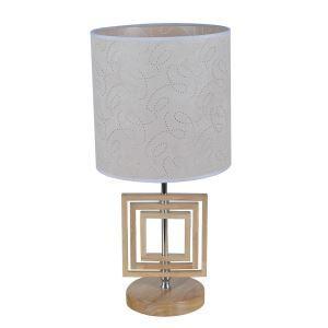 テーブルランプ 卓上照明 テーブルライト 木製スタンド 布製シェード 北欧風 1灯 LTMS61373