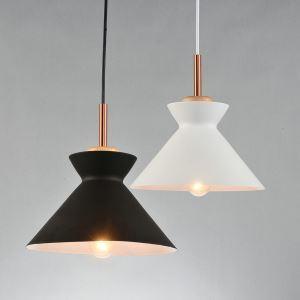 ペンダントライト 天井照明 北欧風照明 照明器具 玄関照明 1灯 黒/白 LT1068