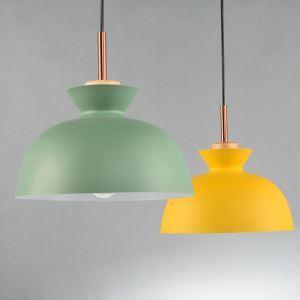 ペンダントライト 天井照明 北欧風照明 照明器具 玄関照明 1灯 緑色/黄色 LT1069