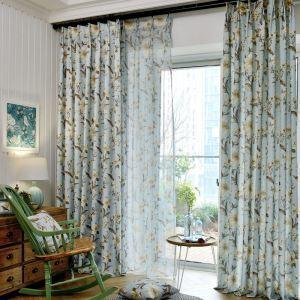 遮光カーテン オーダーカーテン ターシャ・テューダー柄 田舎風 2色 3級遮光カーテン(1枚)