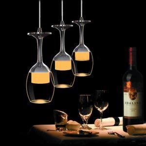 LEDペンダントライト 天井照明 照明器具 インテリア照明 ワイングラス型 3灯 LTB307866