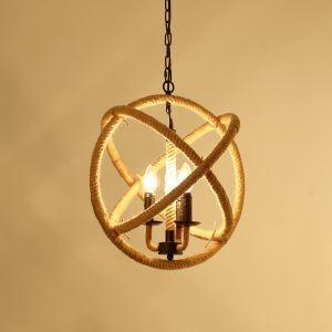 ペンダントライト ロープ照明 天井照明 レトロな照明器具 店舗照明 カントリー 3灯  LTB230368