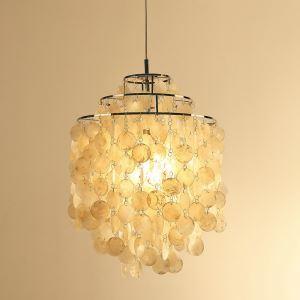 ペンダントライト 天井照明 玄関照明 シェル照明器具 オシャレ 1灯 D45cm