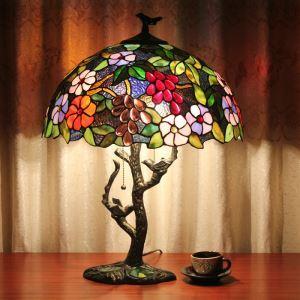 テーブルランプ ティファニーライト ステンドグラスランプ 卓上照明 スタンド 照明器具 間接照明 2灯 D40cm