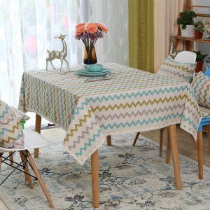 テーブルクロス テーブルカバー 撥水加工 リネン 北欧風 145*260cm 8人掛け用 TC012